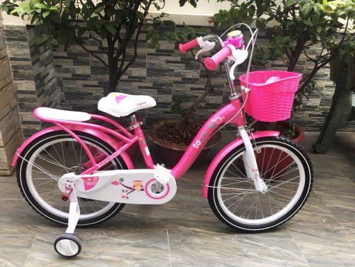 xe đạp trẻ em 20 inch toyou nữ hồng