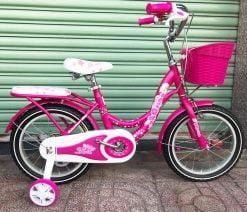 xe đạp trẻ em 16 inch hồng cao cấp