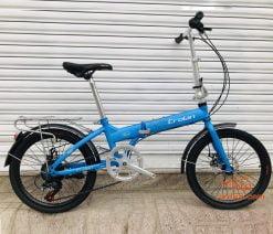 xe đạp gấp Crolan 20 inch xanh