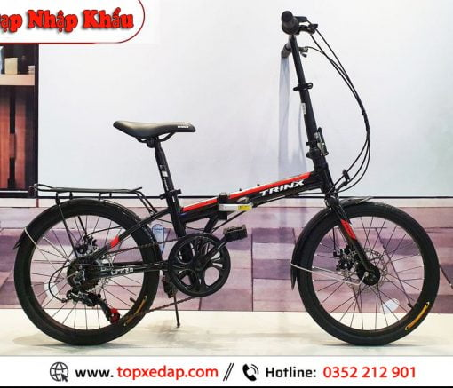 xe đạp gấp Trinx Life 2.0 đen đỏ
