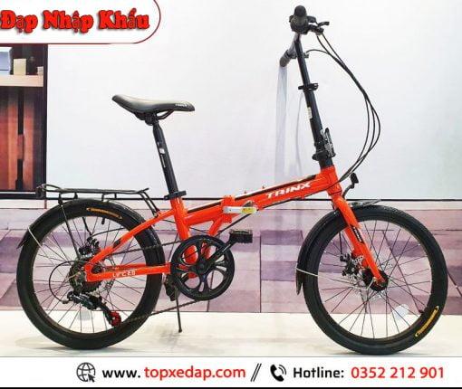 xe đạp gấp Trinx Life 2.0 cam