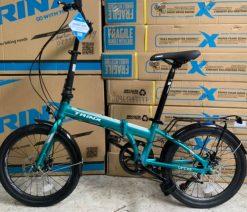 xe đạp gấp trinx life 2.0 xanh