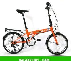 xe đạp gấp galaxy HK1 cam