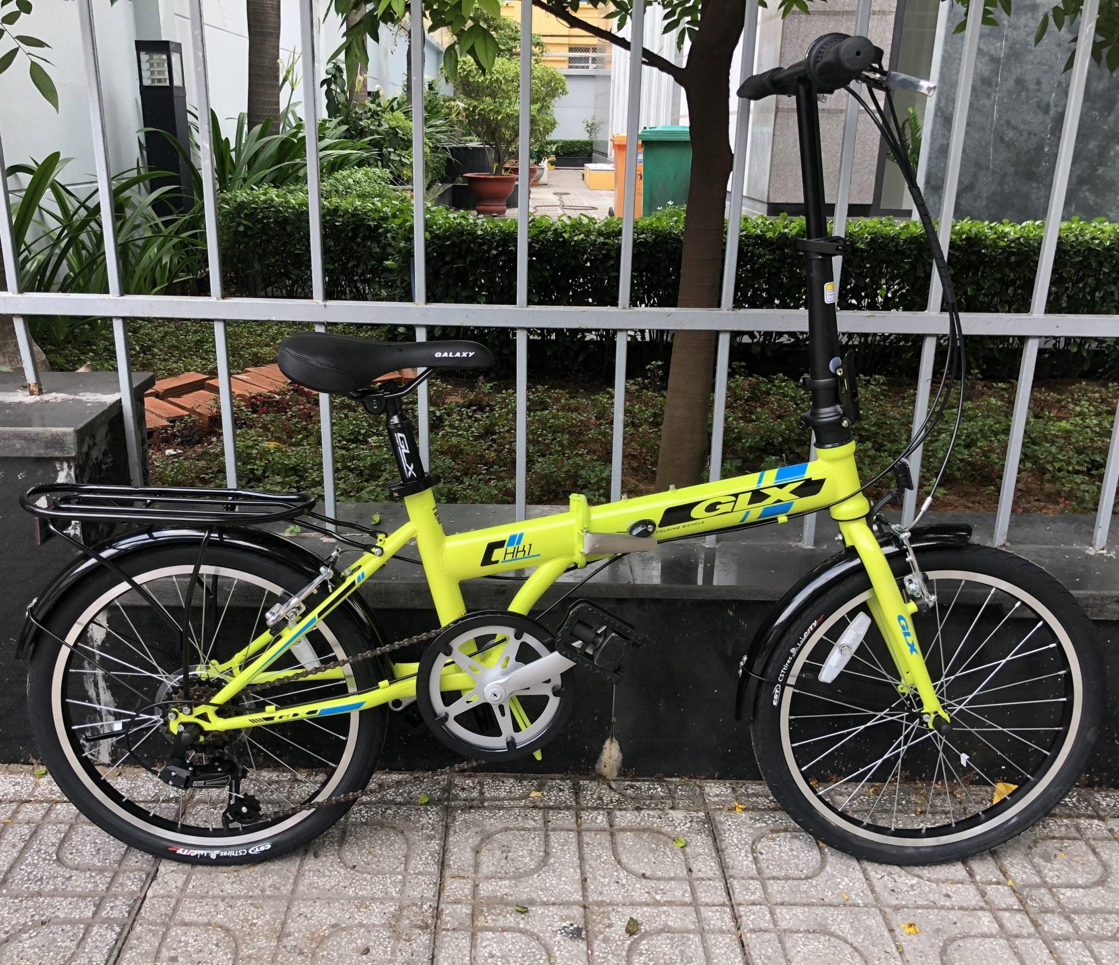 xe đạp gấp galaxy HK1 xanh
