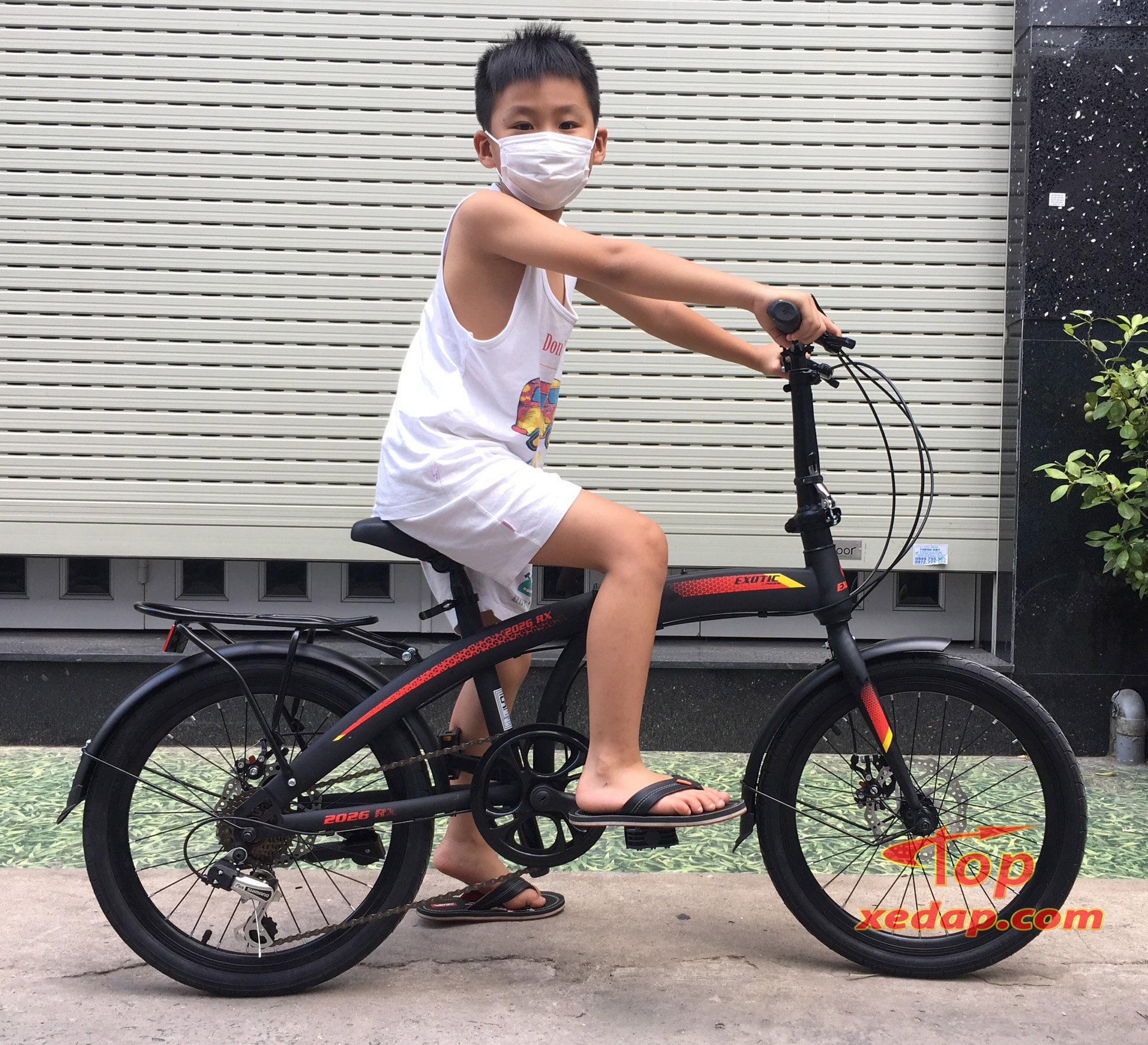 xe đạp gấp Exotic 20 inch cho trẻ từ 1m25