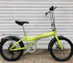 xe đạp gấp Crolan 20 inch lá