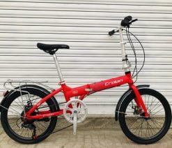 xe đạp gấp Crolan 20 inch đỏ